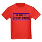 Ron Paul cure-1 Kids Dark T-Shirt