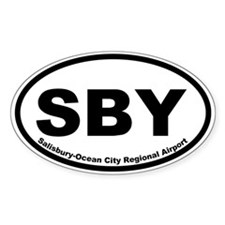 Salisbury-Ocean City Regional Arprt Oval Decal