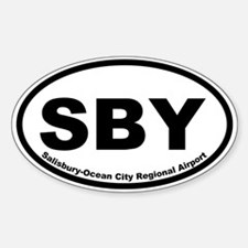 Salisbury-Ocean City Regional Arprt Oval Decal