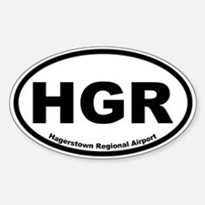 Hagerstown Regional Airport Oval Decal