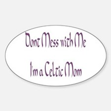 Celtic Mom Oval Decal