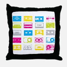 80's Cassettes Throw Pillow
