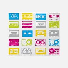 80's Cassettes Throw Blanket