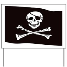 Jolly Rogers Flag Yard Sign
