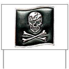 Jolly Rogers Embossed Yard Sign