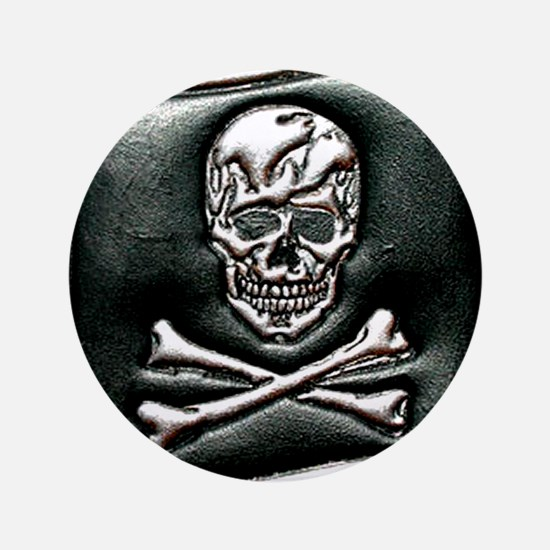 "Jolly Rogers Embossed 3.5"" Button"