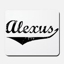 Alexus Vintage (Black) Mousepad