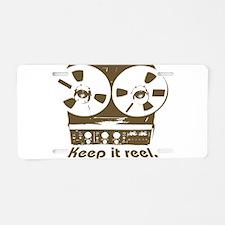 Keep It Reel Aluminum License Plate