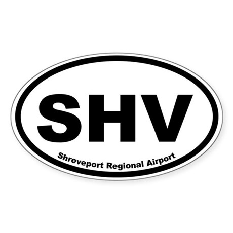 Shreveport Regional Airport Oval Sticker