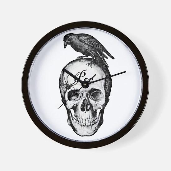 Raven Poe Wall Clock