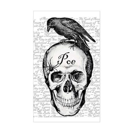 Raven Poe Rectangle Sticker