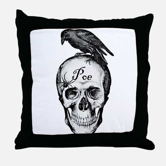 Raven Poe Throw Pillow