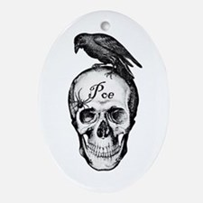Raven Poe Oval Ornament