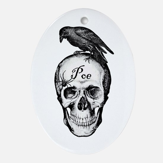 Raven Poe Oval Ornament