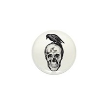 Raven Poe Mini Button (10 pack)