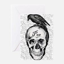 Raven Poe Greeting Card