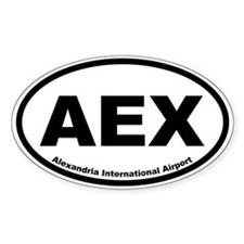 Alexandria International Airport Oval Decal