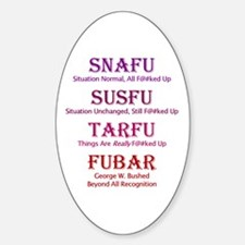 FUBAR Oval Decal