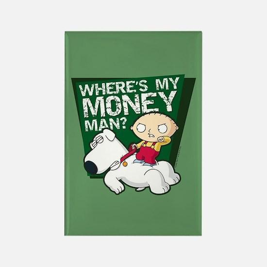 Family Guy My Money Rectangle Magnet