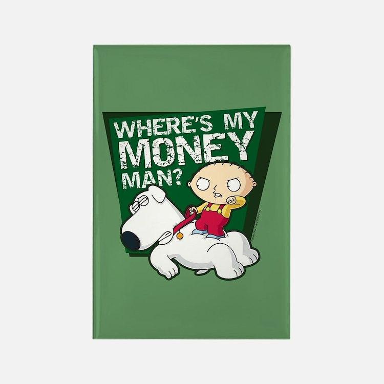 family guy my money rectangle magnet: guy kitchen meg