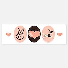 Peace Love Chemistry Bumper Bumper Bumper Sticker