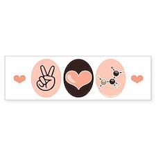Peace Love Chemistry Bumper Bumper Sticker