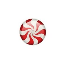 Peppermint Candy Swirl Mini Button