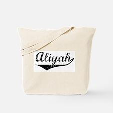 Aliyah Vintage (Black) Tote Bag