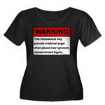 Homosexual Warning Women's Plus Size Scoop Neck Da