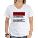 Homosexual Warning Women's V-Neck T-Shirt