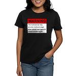 Homosexual Warning Women's Dark T-Shirt