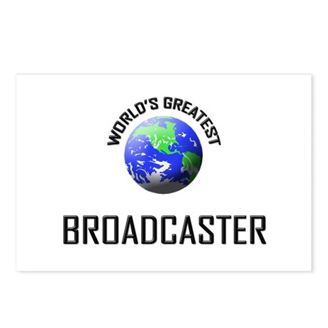 World's Greatest BROADCASTER Postcards (Package of