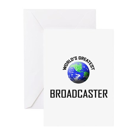 World's Greatest BROADCASTER Greeting Cards (Pk of