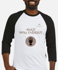 WTF?! Who FARTED?! Gas Mask Baseball Jersey