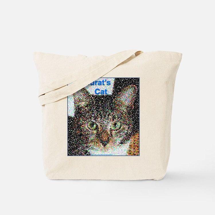 Seurat's Cat Tote Bag