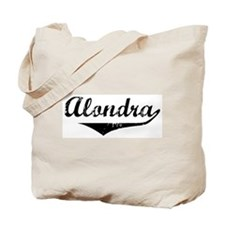 Alondra Vintage (Black) Tote Bag