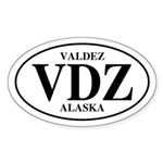 Valdez Oval Sticker