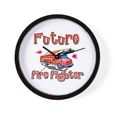 Future firefighter Wall Clock