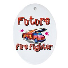 Future firefighter Oval Ornament