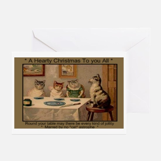 1881 Hearty Christmas Greeting Cards (Pk of 10)