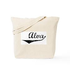 Alva Vintage (Black) Tote Bag