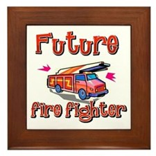 Future firefighter just like my big brother Framed