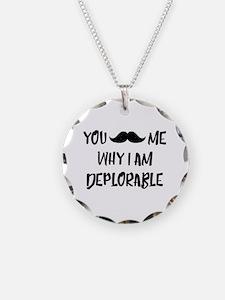 Mustache Deplorable Necklace