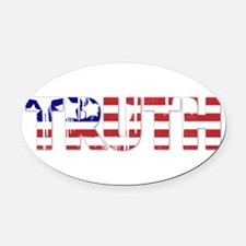 Red, White & Truth Oval Car Magnet