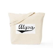 Alysa Vintage (Black) Tote Bag