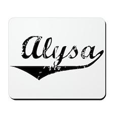 Alysa Vintage (Black) Mousepad