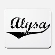Alysa Vintage (Black) Mousepad