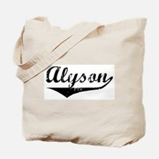 Alyson Vintage (Black) Tote Bag