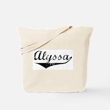 Alyssa Vintage (Black) Tote Bag