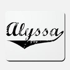 Alyssa Vintage (Black) Mousepad